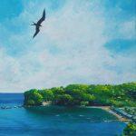 "Anse-la-Raye Morning, Acrylic on canvas, 27.5x19.5"""