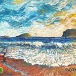 """Anse des Sables, Saint Lucia. Acrylic on canvasboard, 8x10"""""""