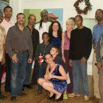 Artists at the Inner Gallery show, St. Lucia, January 2011