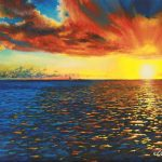 Painted Horizon, Acrylic on canvas
