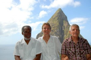 history of st lucia authors